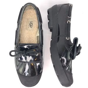 Ugg Shearling Black Patent Duck Waterproof Shoes 8